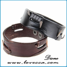 popular handmade fashion wrap around leather bracelet