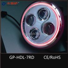 2015 ! 7'' Jeep Wrangler JK,Rover, Harley Motor Projector Halos Devil Eyes led Headlights 10-30V, DOT,CE approved