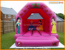 commercial lovely inflatable pink bouncy castle for rent