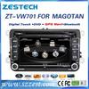 Shenzhen Manufacturer 2 din HD touch screen head unit gps navi for vw passat with radio bt usb sd dvd player