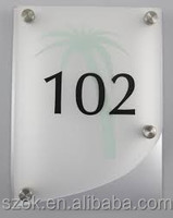 modern wall mounted acrylic hotel door signs for wholesale