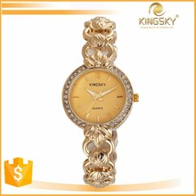 2015 kingsky 2177# colorful new products on china market japanese flower lady watch
