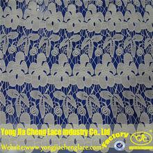 tela de encaje de algodón con deisgn bordado para la decoración 30017