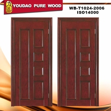 Wooden flower design decorative doors for home factory price