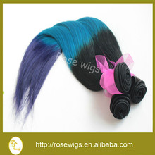 Top 8A grade quality malaysian hair straight ombre remy hair weaves , three tone color hair weave