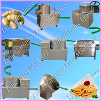 Electric fresh potato chips production line/commercial banana chips machine