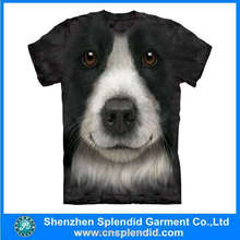 top sale high quality animal 3d t shirt printing