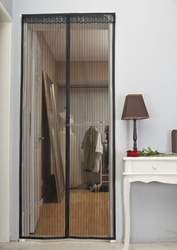 Magnetic Screen Door Mesh Curtain Keeps Bugs & Mosquitoes Out Lets Cool Breeze In - 6 Month Money Back Guarantee
