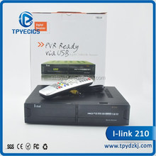 Factory wholesale ilink 210 fta satellite receiver ilink 210 internet tv box with Lan and PVR SHIP
