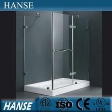 Hs-sr839 baño rectángulo húmedo prefabricada de vidrio framless recinto de la ducha