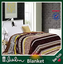China wholesales cheap home textile luxury brand name excellent quality microfiber polyester blanket on king and queen size