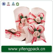 Natural color recycled pillow boxes kraft pillow box craft pillow box
