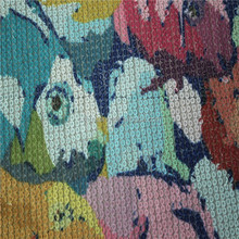 100%polyester Mesh Sequin embroidery printed fabric