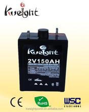 Environmentally Friendly UPS- GEL Sealed Lead Acid Batteries 2v 150AH for UPS