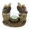 resina con tealight navidad adornos de pingüinos