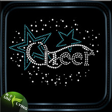 T-shirts decorate with star rhinestone iron on transfer cheer letter