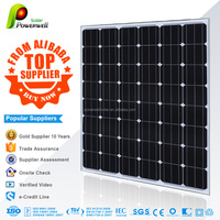 Powerwell Solar Top Supplier 156mm*156mm Solar cells 200-220W Mono Silicon Solar PV Panel Module With CE/IEC/TUV/ISO