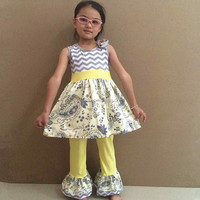 2015 hot sale wholesale back to school baby girls clothing set girls outfit for fall