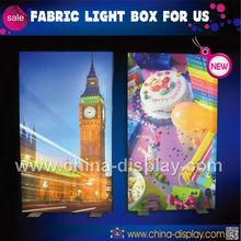 Single Side Wall Mounted Fabric Light Box Backlit Design Fabric Light Box Frame