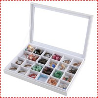 New style 24 crossed engagement clear jewelry box with lid