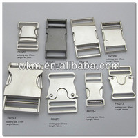 Matel side release buckle for pet collars