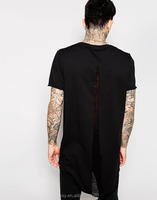 Light weight hem curved cotton washed tall t-shirts wholesale clothing free shipping service from china