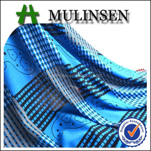 Knitted Polyester FDY fabric blue white stripe