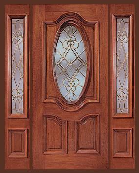 Puertas de madera y cristal puertas lacadas madera for Puertas de entrada de madera y vidrio