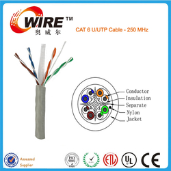 Owire Fluke approved 24AWG RJ45 ethernet cat6 lan cable cat 6 utp cable suitable for Audio and Data Transmission