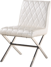 B8042 Wooden frame dining chair with stainless steel legs made in China