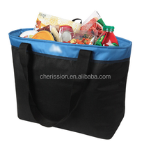 Insulated 45 can freezer cooler tote bag