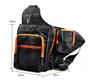 Outdoor Sports Waterproof Shoulder Bag Fishing Tackle Storage Black