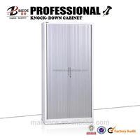 Office furniture kd sliding roller shutter door steel cabinet