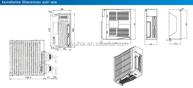 SG15 AC servo motor drive for 60mm 80mm 90mm AC servo motor, Ac Servo Motoe Driver