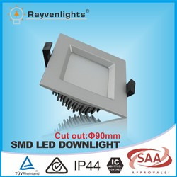 Square frame 12W SMD led residential downlight with CE&RoHS Approval