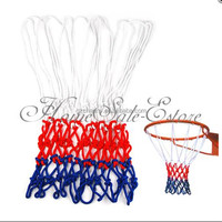 NEW Hot Selling Standard Sports Game 6mm Nylon Thread Red White Blue Basketball Rim Mesh Net Loops
