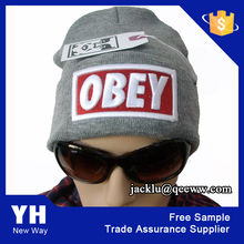 2015 custom fashion knitting acrylic women's hat