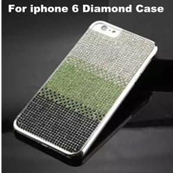 Fashion Shiny Rhinestone Shade Colors Case For iPhone 6 4.7 inch Bling Diamond PC Plating Back Cover For iPhone 6