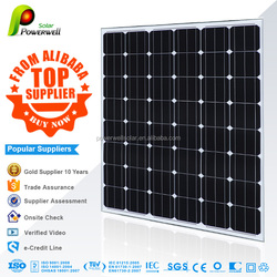 Home use Powerwell mono solar panel korea 130W