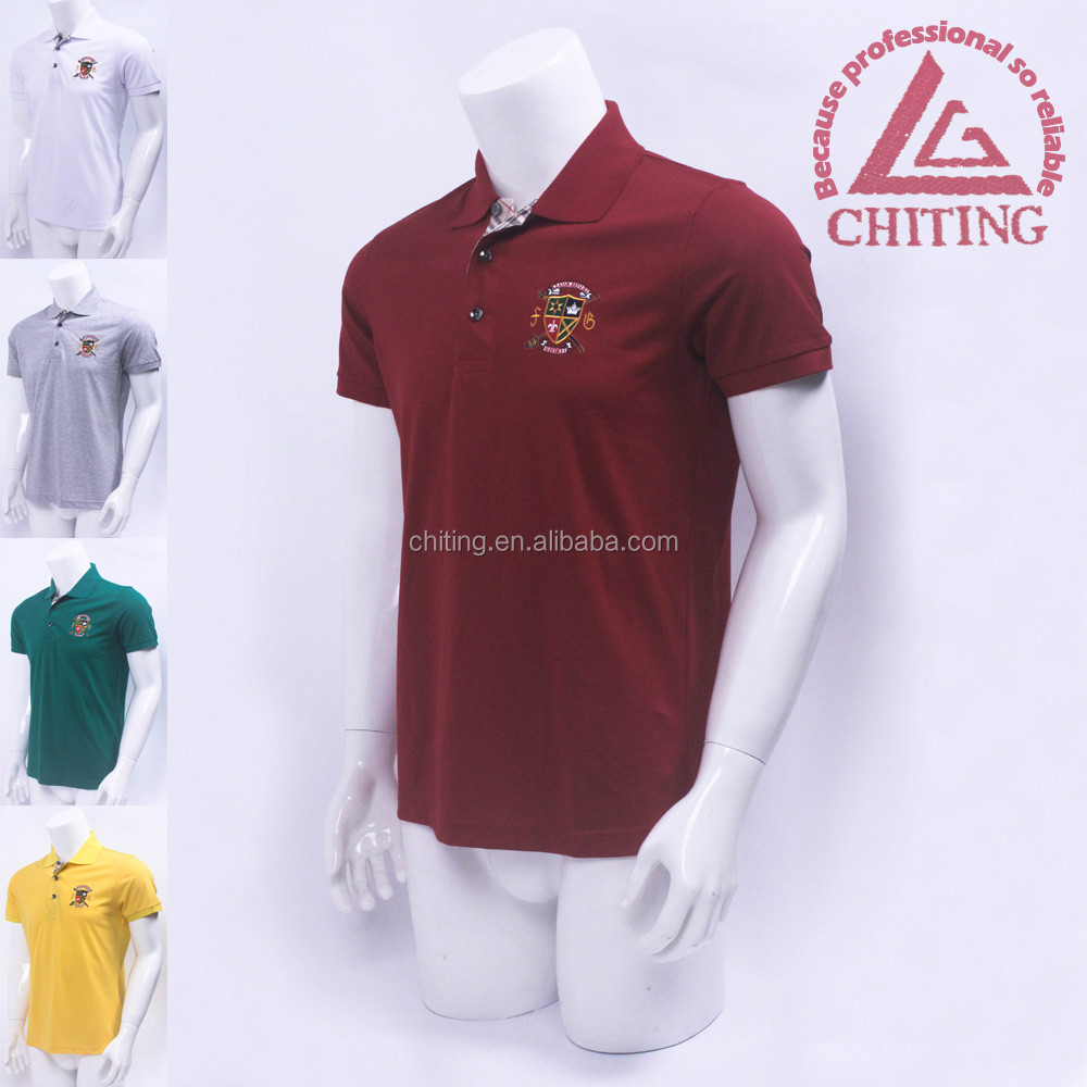 Men 39 s polo shirt embroidery printing colors t shirt for Wholesale polo shirts with embroidery