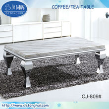 modern design white granite top coffee desk CJ-809