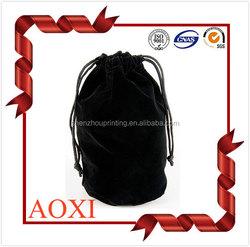 Different types velvet pouch best price for black flannelette bag