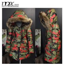 Moda mujeres militar Parka abrigo largo abrigo europea