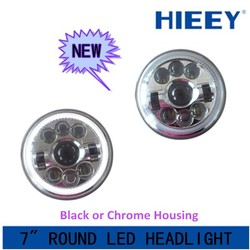 """New Products! DOT Approval 7 Inch round Led Lighting 7"""" 29W Headlight with DRL for Jeep with low high beam led headlight"""