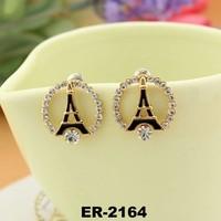 2015 Newest Design Latest Fashion Women Eiffel Tower Shape Fashion Earring Party Earring ER-2164