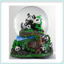 Home Decor Music Box Resin panda snow Water globe Crystal Ball