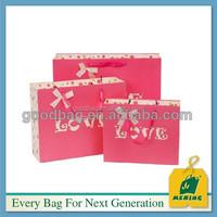 wholesale fold over die cut 250g kraft paper shopping bag