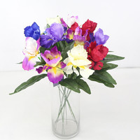 Simple Single China Cheap Wholesale Artificial Orchid Iris Flower Silk Flower