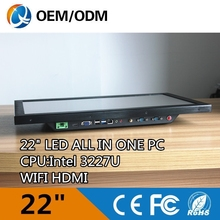 latest desktop computers 22 inch Hot sell Intel core 3227u all in one pc