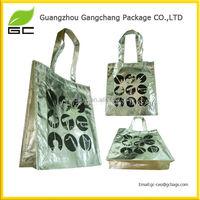 Full color printing pp non woven laminated shopper bag